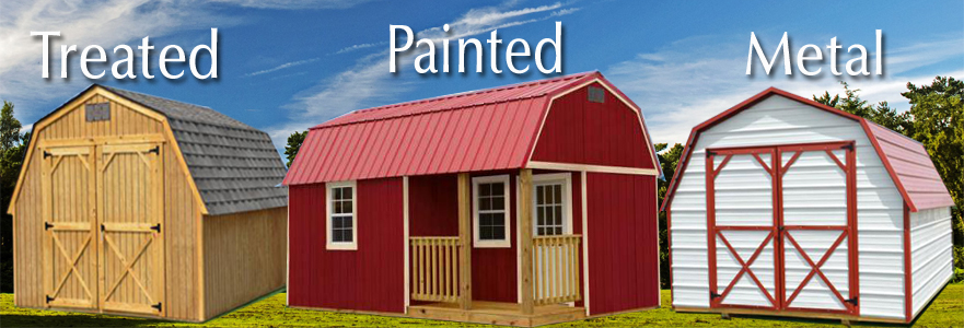 Derksen Buildings treated painted metal A+ Sheds and Carports San Antonio, Texas