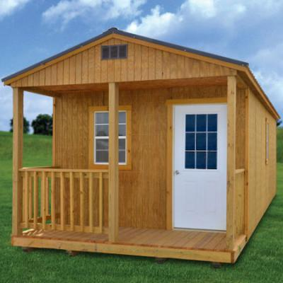 Derksen Buildings treated cabin A+ Sheds and Carports San Antonio, Texas